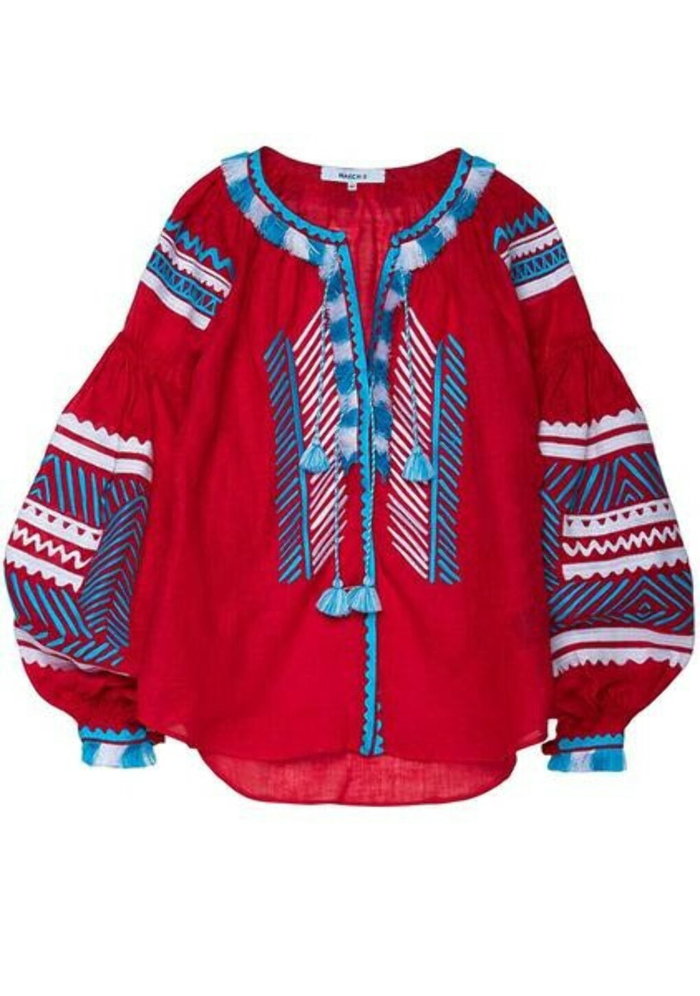Namibia blouse in red
