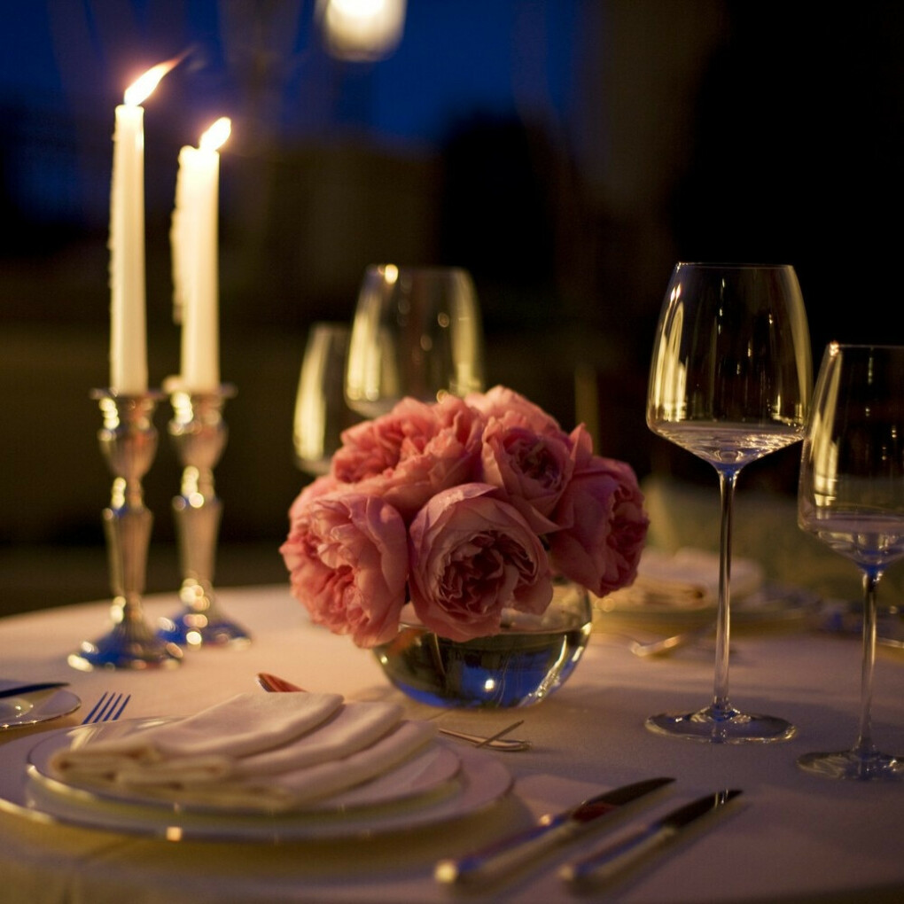 романтический ужин с мужем