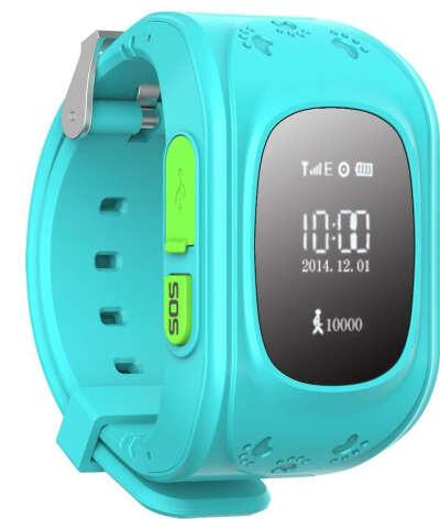 Купить Детские часы BabyWatch Classic с GPS и функцией телефона, голубые
