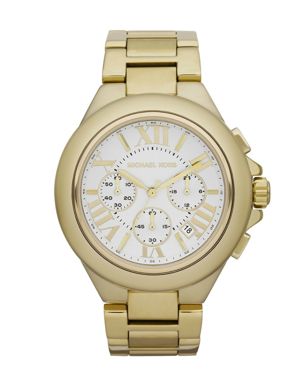 Michael Kors Mid-Size Golden Stainless Steel Camille Chronograph Watch
