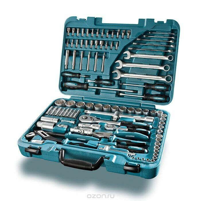 Универсальный набор инструментов HYUNDAI K 98, 98 предметов