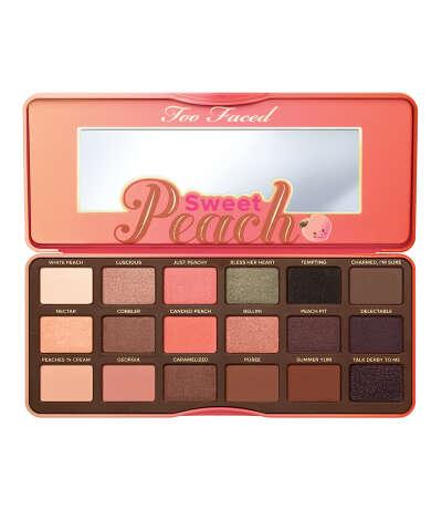 Палетка теней Too Faced - Sweet Peach Eyeshadow Palette • MAKEUPLIST