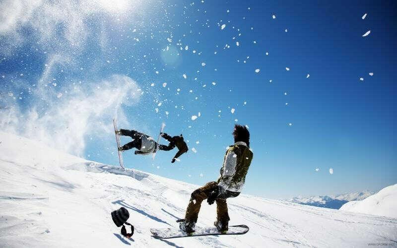 Покататься на сноуборде!