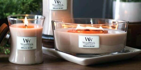 Свечи WoodWick с деревянным фитилем