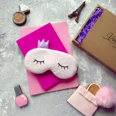 Маска для сна Princess  / Розовый