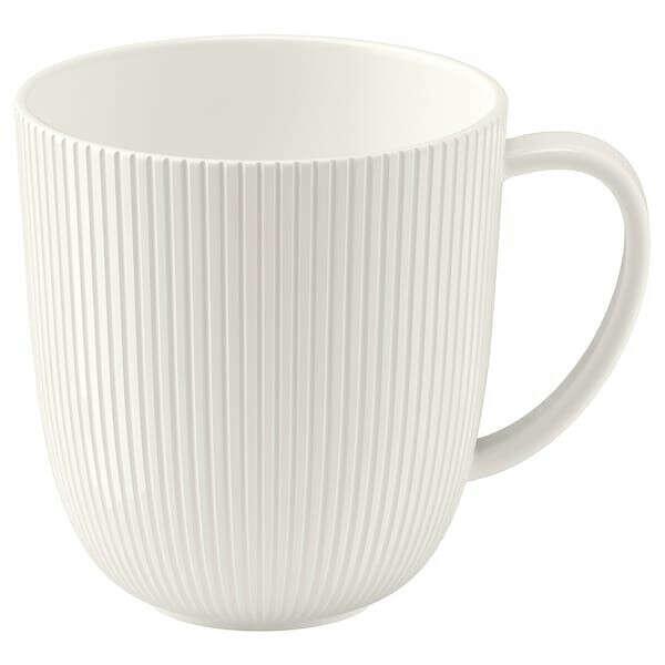 ОФАНТЛИГТ: белая кружка IKEA
