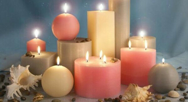 Свечи разных форм и размеров