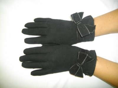 Перчатки темно-красные, темно-серые