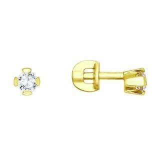 Золотые серьги с фианитами SOKOLOV 020321-2*