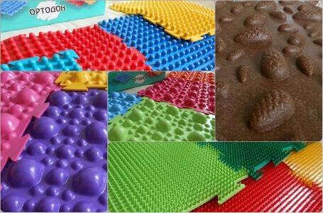 Ортопедический массажный коврик для детей ОРТО МИКС 12
