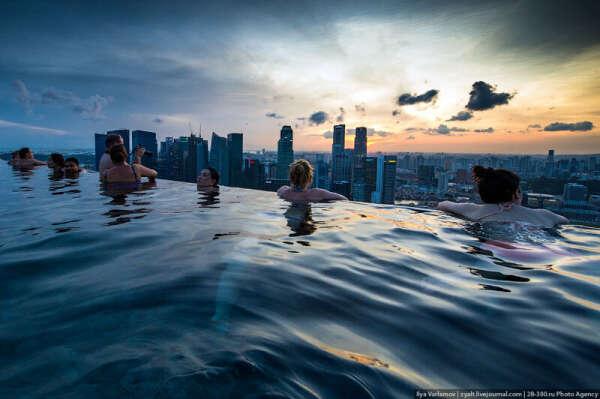 Искупаться в Marina Bay Sands
