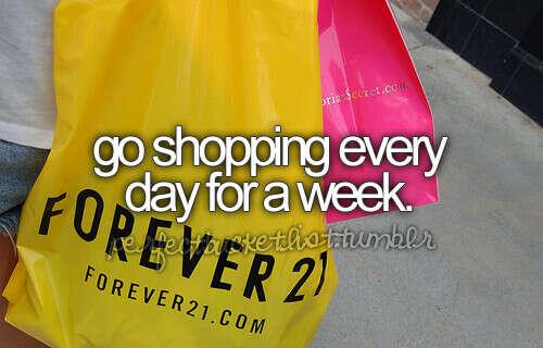 Ходить на шоппинг каждую неделю