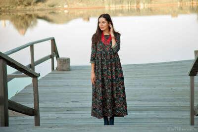 Тёплое платье из фланели
