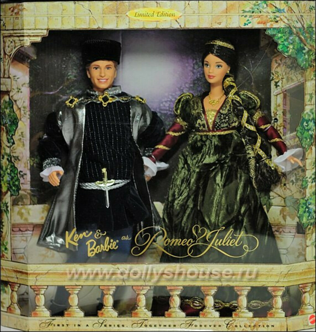 Barbie and Ken ser Romeo and Guiliet