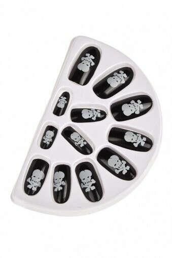 Набор ногтей накладных «Череп и кости»