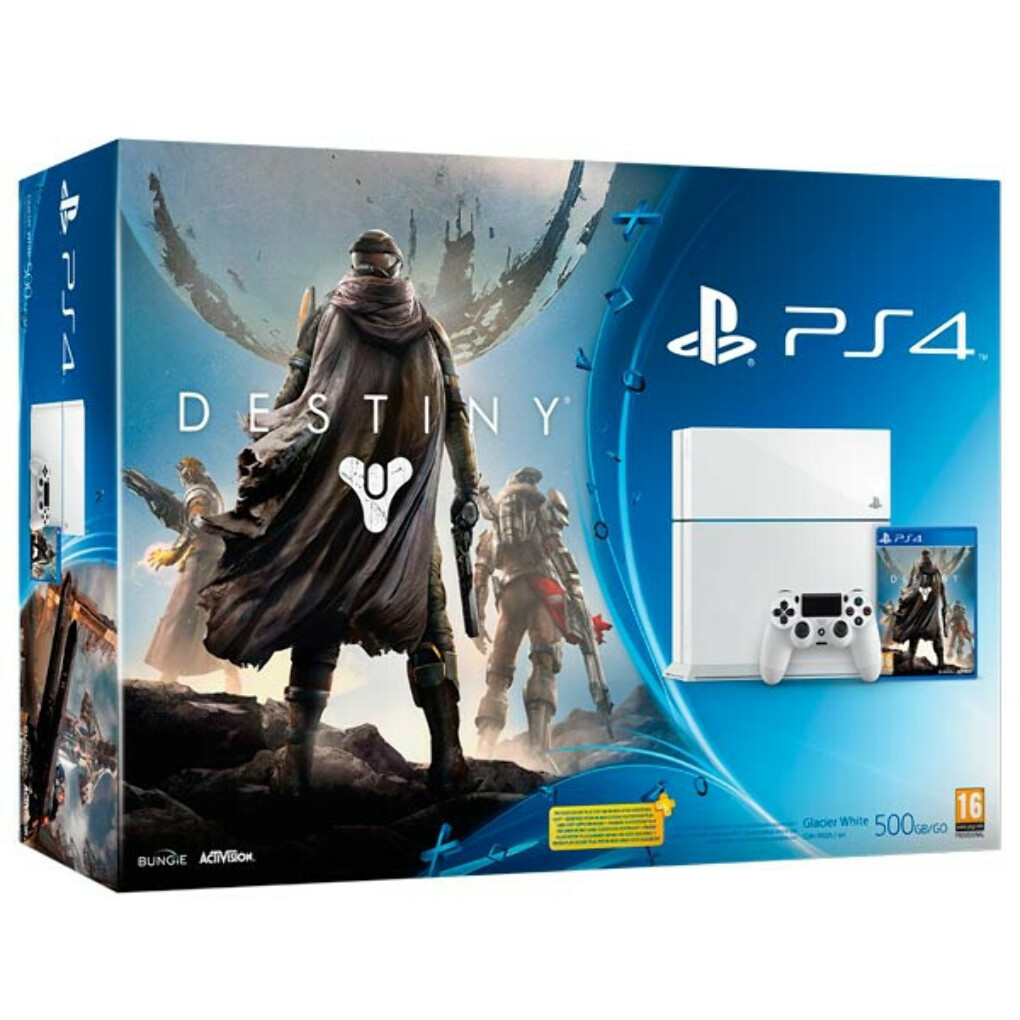 Sony 500Gb White (CUH-1108A) + игра Destiny