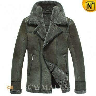 CWMALLS® Custom Shearling Bomber Jacket CW861231