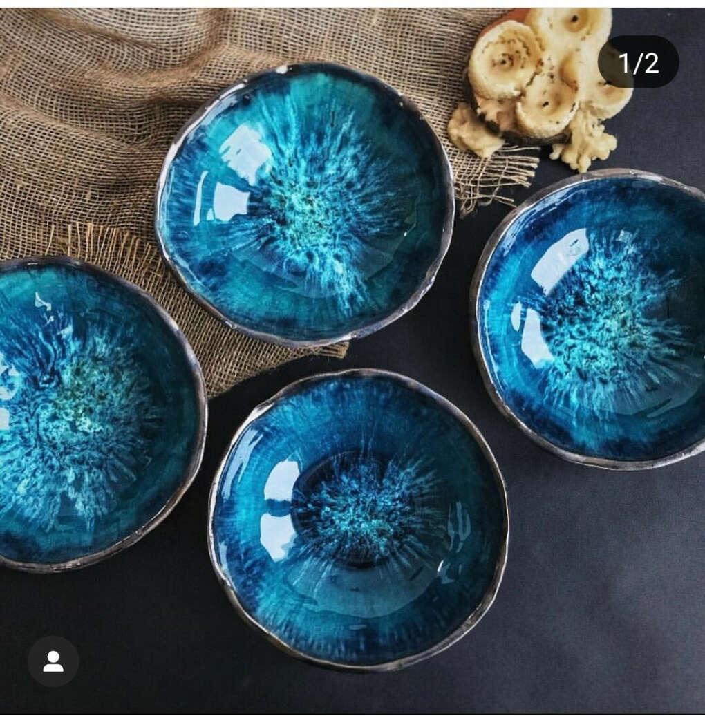 Керамический набор посуды ручной работы