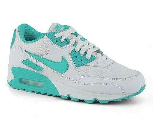 Кроссовки Nike Air Max белые с мятным