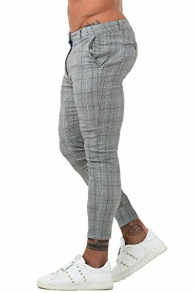 Mens Chinos Slim Fit Stretch Flat-Front - Buy Online in Great Britain at Desertcart