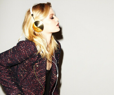 Наушники Frends Taylor Over-Ear Headphones Leather White/Gold