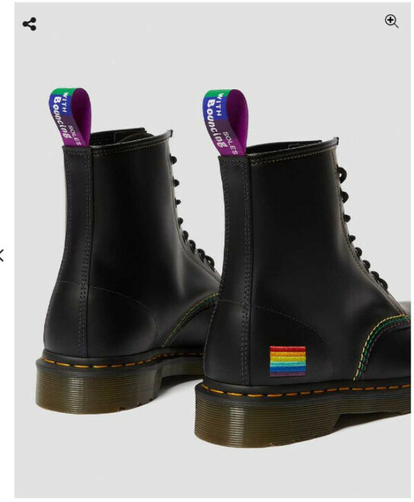 Dr.Martens 1460 pride smooth leather lace up boots