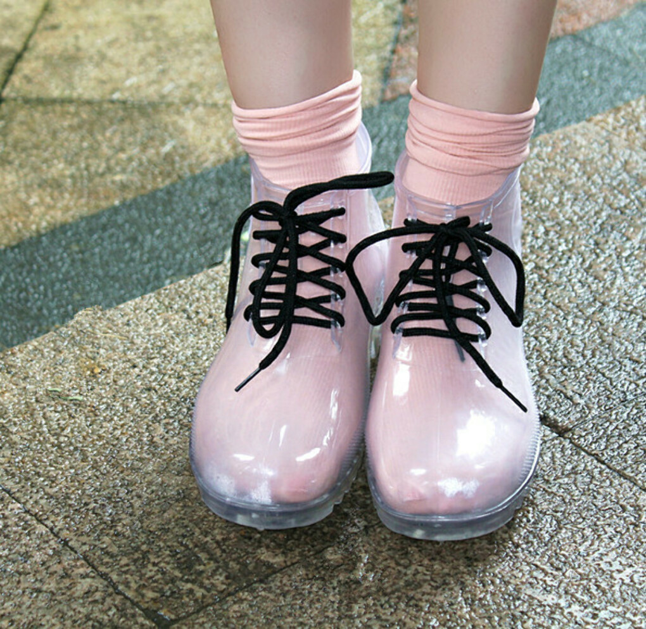 Прозрачные ботиночки  Raindow))