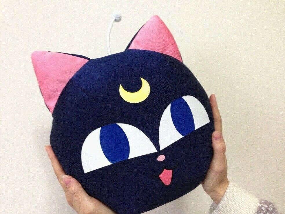 Sailor Moon Luna-cat pillow