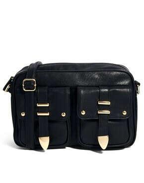 Большая сумка через плечо с двумя ремешками спереди ASOS