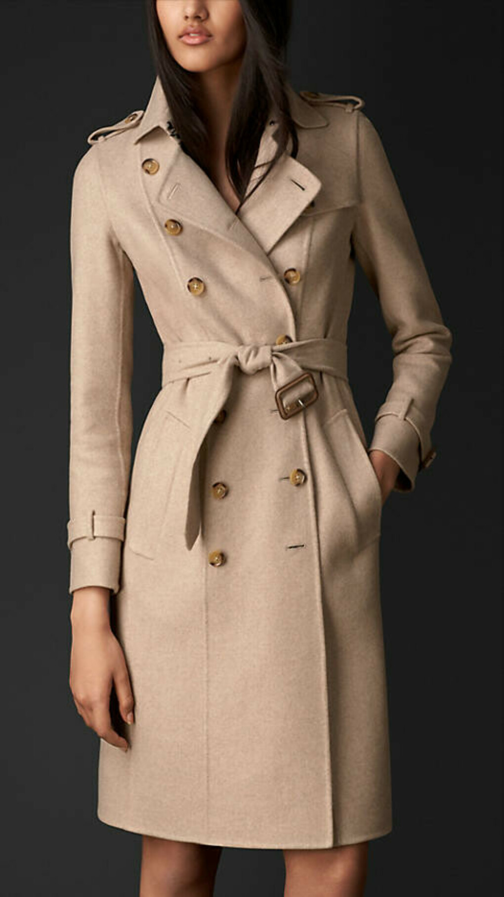 Trench-coat en double cachemire