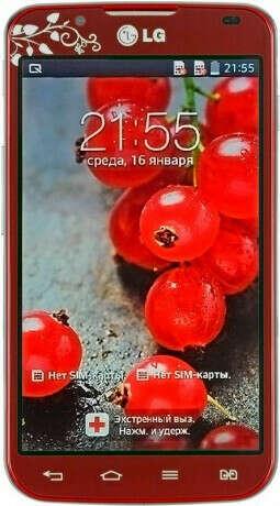 телефон LG P715 Optimus L7 II Dual Red