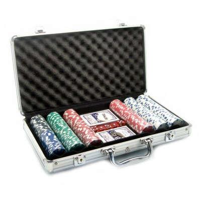 большой покерный набор 500+ фишек с номиналом