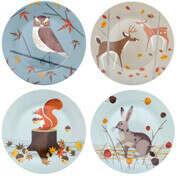 Набор закусочных тарелок Forest Friends