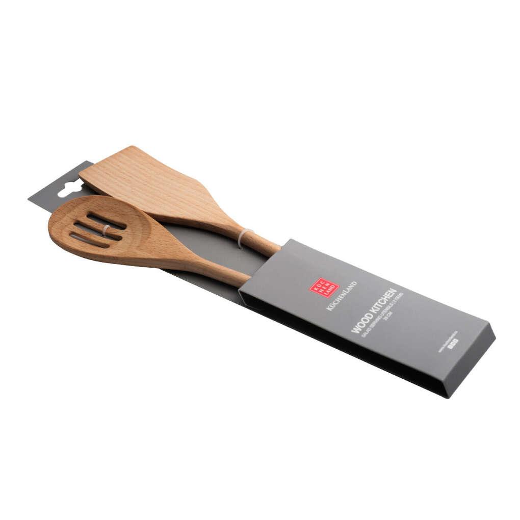 Набор лопаток, 2 пр, бамбук, Wood Kitchen