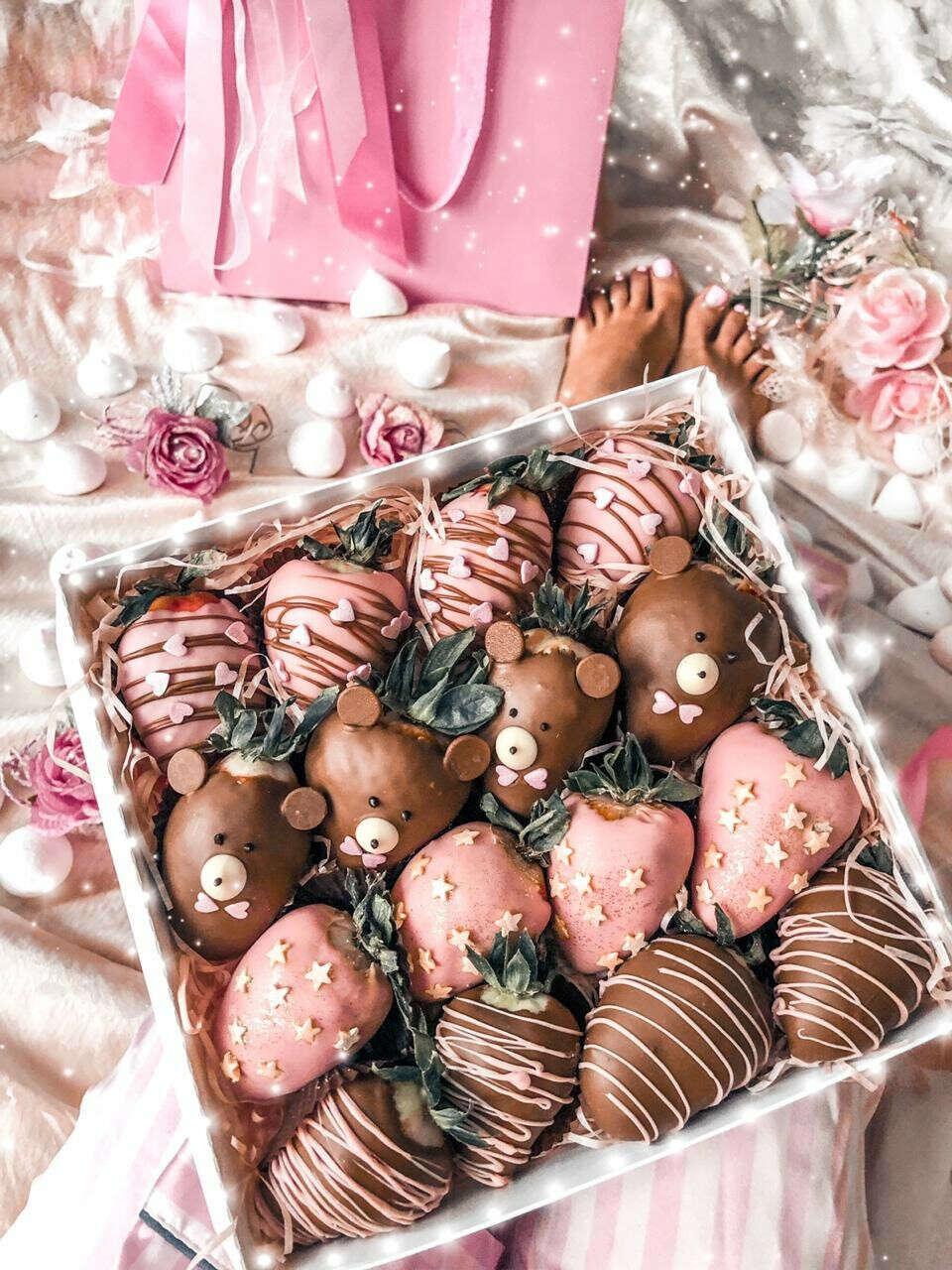 Клубника в шоколаде в коробке/букет