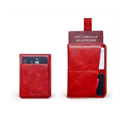 Набор кредитница, обложка для паспорта кожа