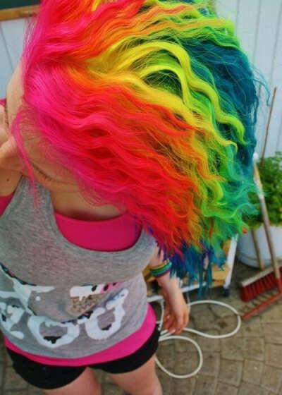 Сделать разноцветные волосы*о*