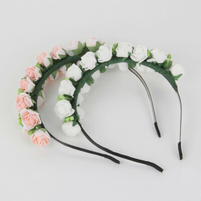 Мода стильный горячая распродажа цветочной гирляндой цветочные повязка на голову Hairband свадебное пром повязка на голову аксессуары для волос для подарка купить на AliExpress