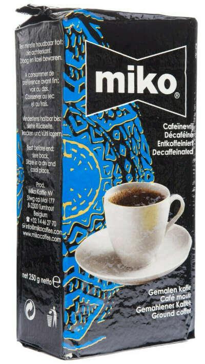 MIKO Decaffeinated coffee. Кофе без кофеина