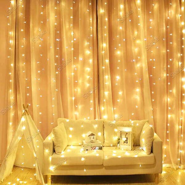 Светодиодная гирлянда-занавес водопад штора 320 LED 3х2 м тепло-белый свет свечения Led Curtain-light (RD7156)