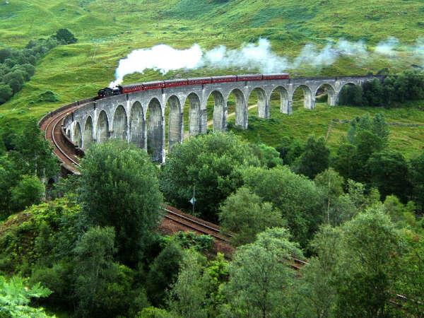 Побывать на мосту Гарри Поттера в Шотландии