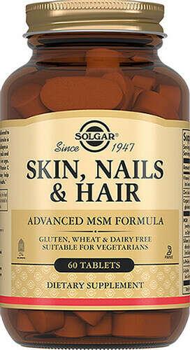 "Solgar Комплекс витаминов Skin, Nails & Hair ""Кожа, Ногти и Волосы"", 1397 мг, 60 таблеток"