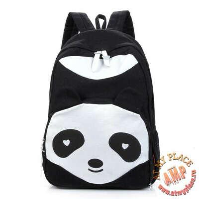 """Черный рюкзак """"Панда"""""""