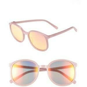 Зеркальные розовые очки