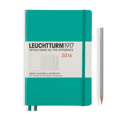 Leuchtturm 1917 Еженедельник + блокнот с буклетом изумрудный А5 2016