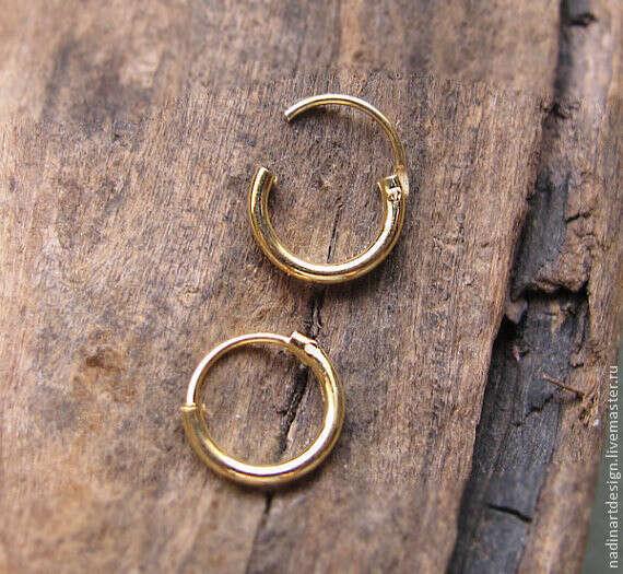 Серьга-кольцо для прокола хеликс