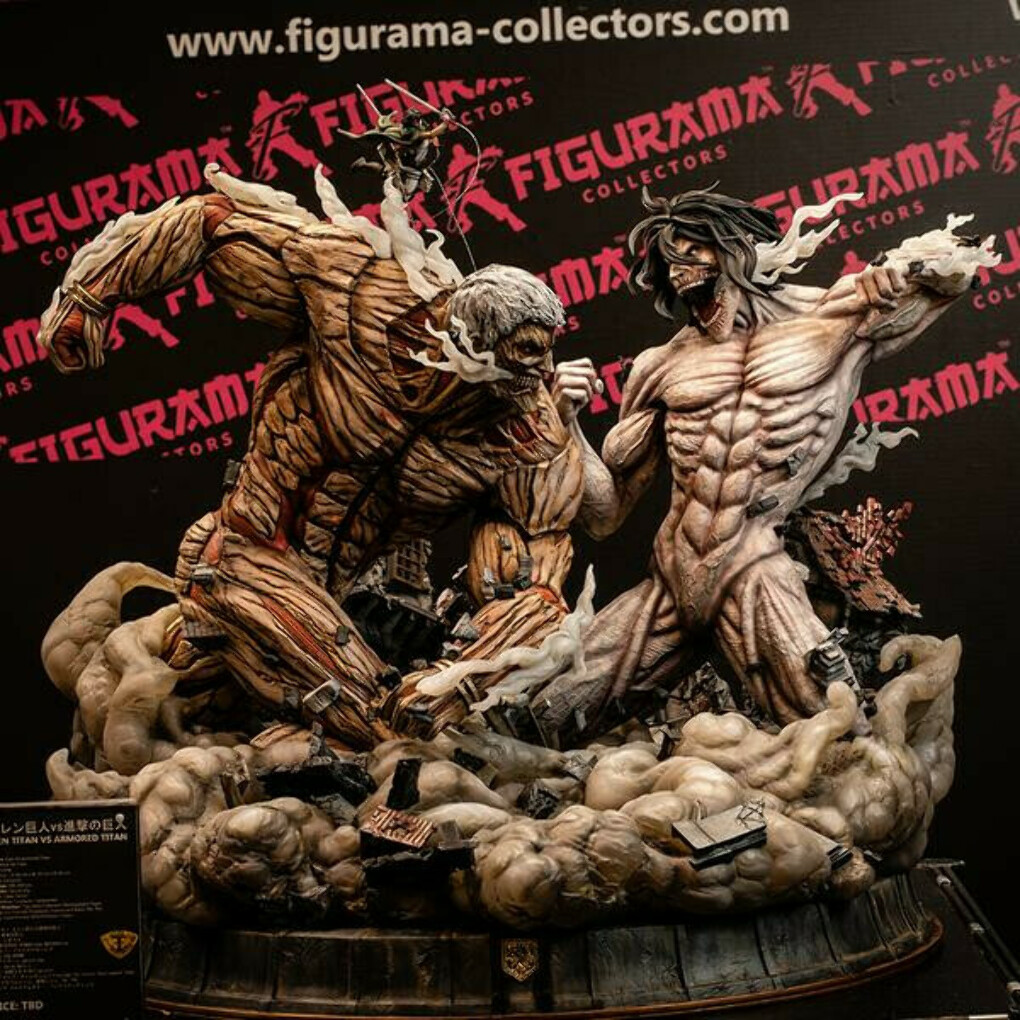 Attack on Titan statue