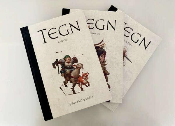 Артбуки TEGN от Ивена Амундсена 3 части