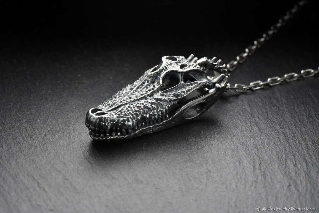 Подвеска Череп Крокодила