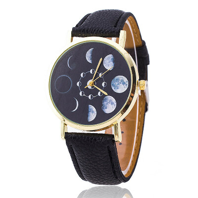 Moon Phase Astronomy Space Watch Fashion Women Quartz Watches Casual Leather Wrist Watch Relogio Feminino Christmas Gift BW1766 купить на AliExpress